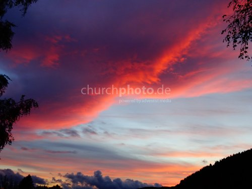 Abendrot -  evening red