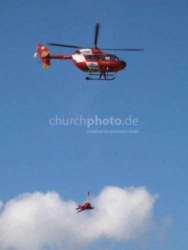 Luftrettung Hochwasser Bern