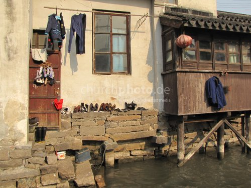 Living at the river in China