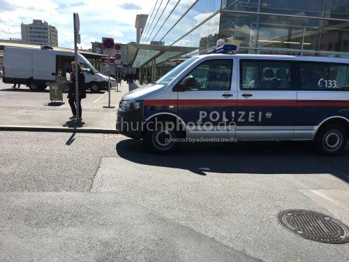 Polizei am Hauptbahnhof