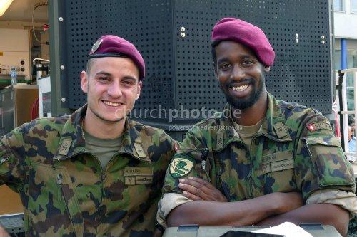 Schweizer Soldaten