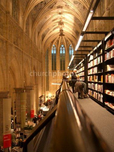 Bookstore in a church