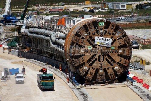 Tunnelbohrmaschine, tunnel drilling machine