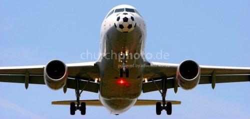 Fußball-Flugzeug