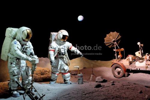 Arbeiten auf dem Mond
