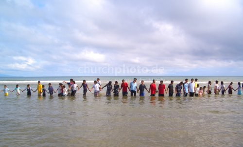 Baptism candidates in the Philippines