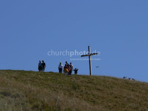 people and cross