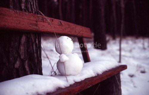Schneemann Pause