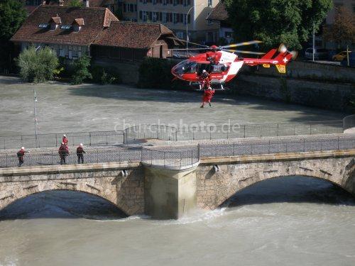 Luftrettung Hochwasser in Bern