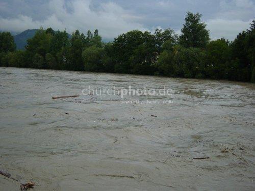 Überschwemmung im Inntal