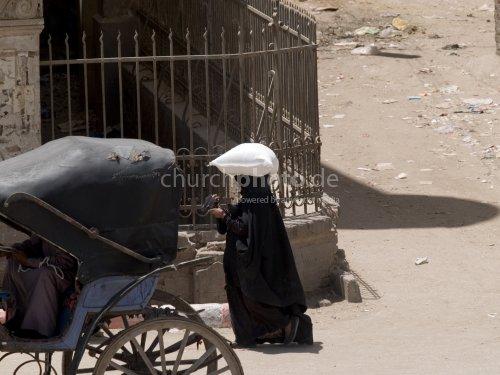 Street scene in Egypt