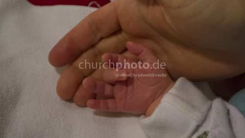 Kleine Hand - große Hand