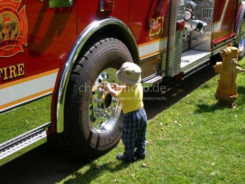 Boy and Firetruck