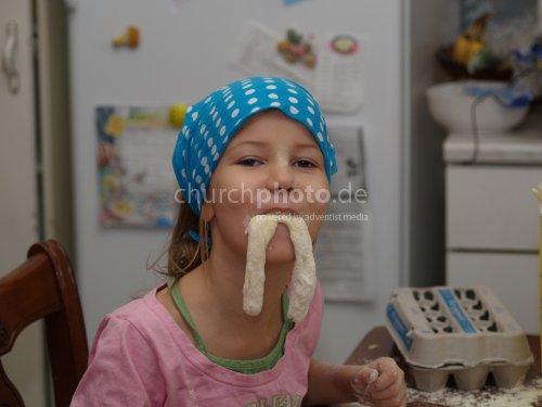 Eating dough