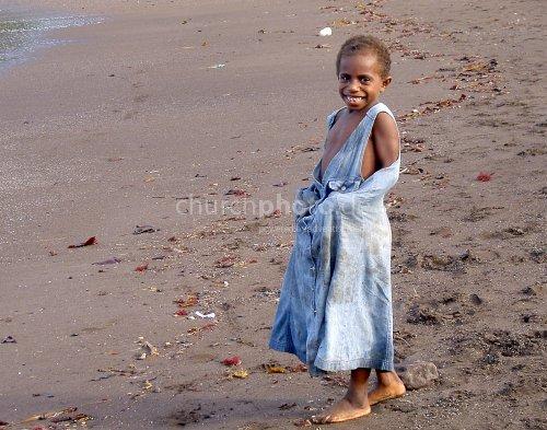 Kid at Vanuatu