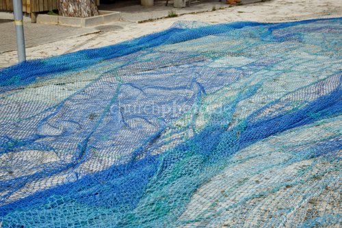 Fischernetz am Meer
