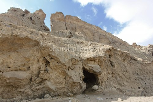 Salt cave near the Dead See in Israel