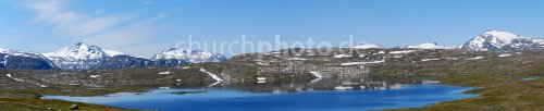 Norwegisches Bergmassiv im Panorama