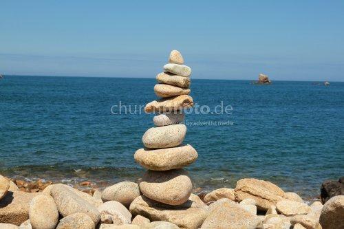 Steinmännchen am Meer