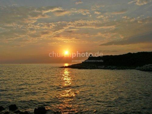 Sonnenuntergang in Kroation
