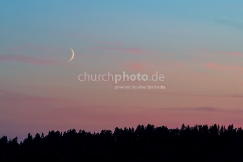 New Moon at sunset