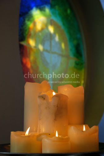 Candles and the cross