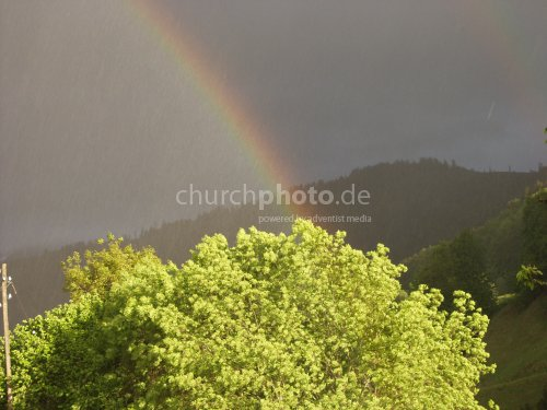 rainbow at lake Thun