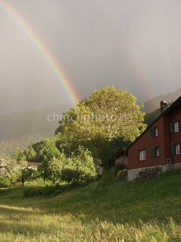 rainbow at lake Thun