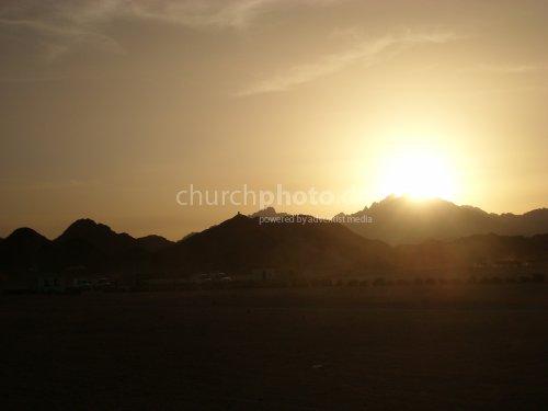 Sonnenuntergang in Ägyptens Wüste