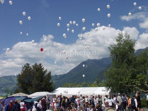 start of ballons