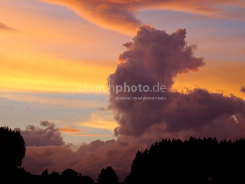 Cloud in evening          Wolken