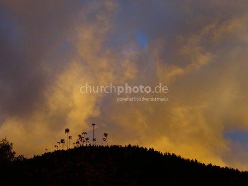 Brennende Wolken  -  burning clouds