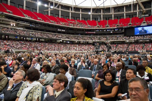 Attending general conference session