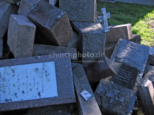 Cemetery rubble