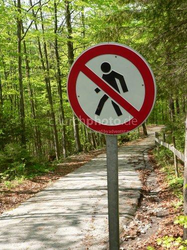 Verbotener Weg - forbidden way