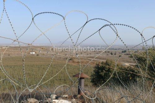 Syrien-Grenze Golan