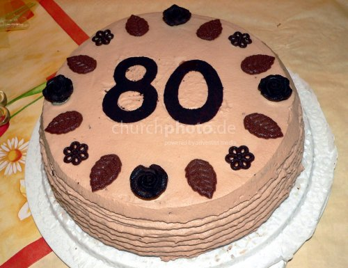 Torte zum 80