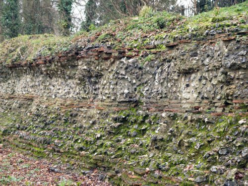 Roman Wall from Verulanum, laid out in 50 AD