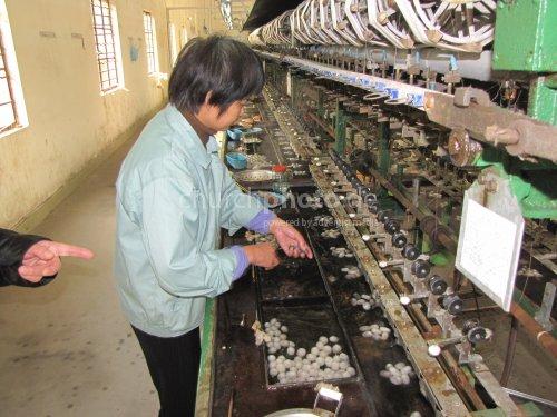 Silk mill in China