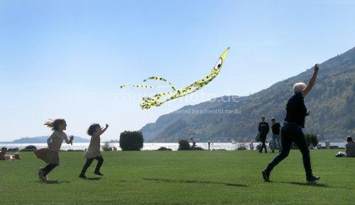 Spielen am See