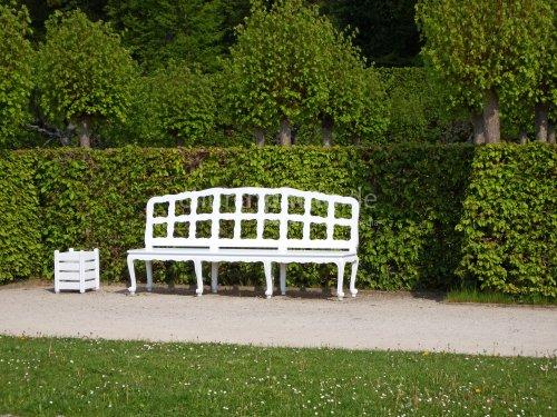 Eine Sitzgelegenheit in der Eremitage in Bayreuth